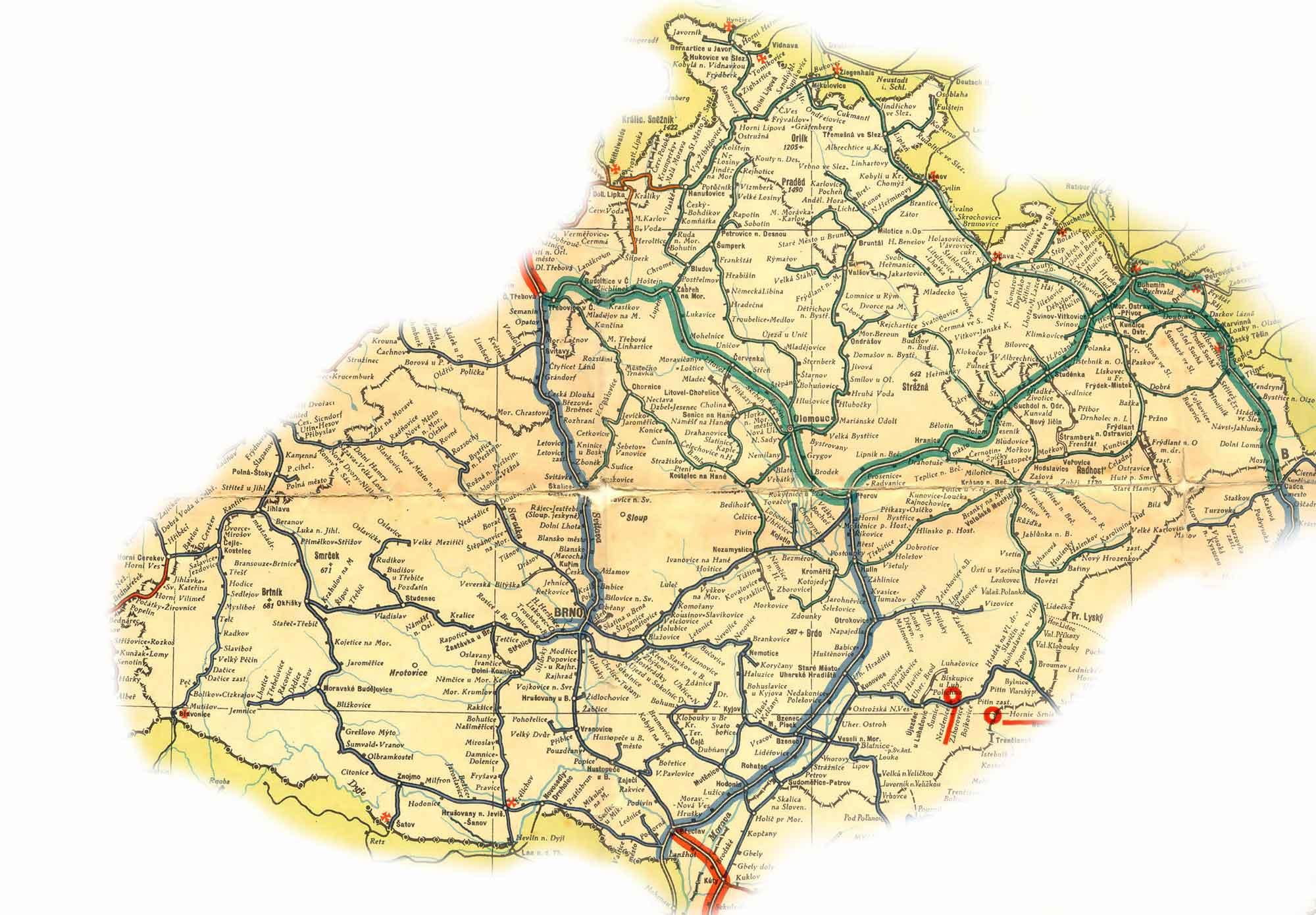 Zeleznicni Mapy Moravy A Slezska